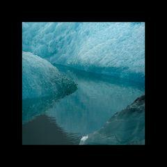Eis- und Wasserflächen abstrakt