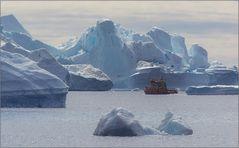 eisberge sind immer in bewegung
