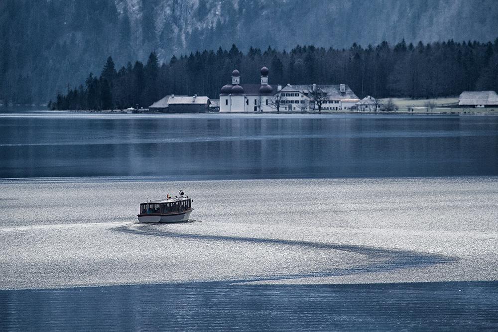 Eisbrecher auf dem Königssee