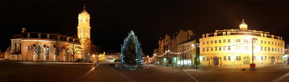 Eisenacher Marktplatz nach der Weihnachtseuphorie