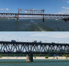 Eisenbahn-Hebebrücke bei Krementschug...