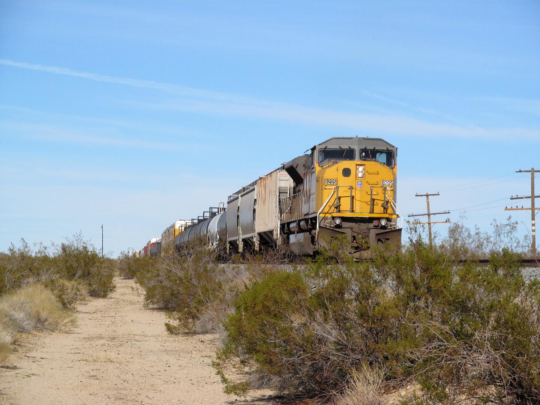 Eisenbahn in der Mojave-Wüste