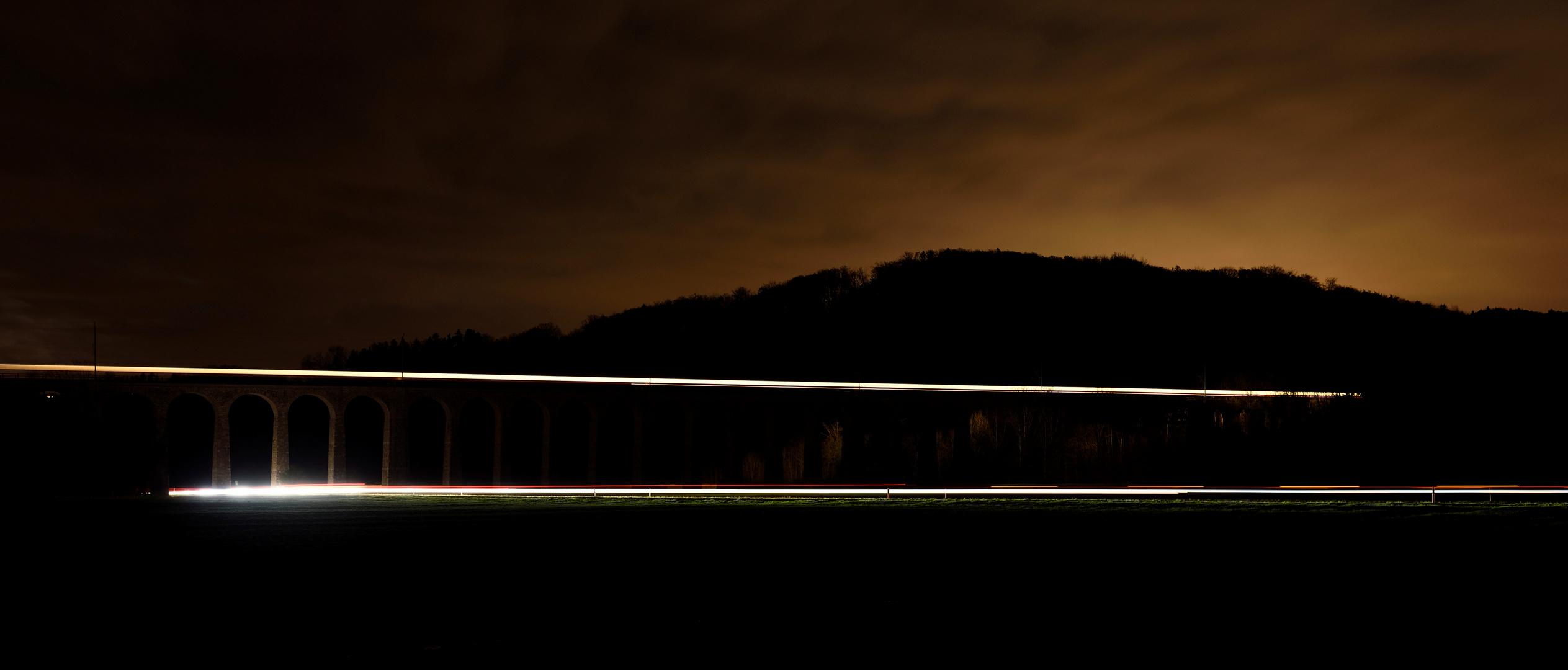 Eisenbahn-Viadukt bei Gümmenen 1