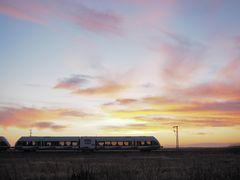 Eisenbahn zum Neujahrstag