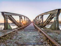 Eisenbahnbrücke im Teufelsmoor