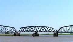 Eisenbahnbrücke über der Eider
