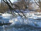 Eises Kälte an der Saale bei Naumburg