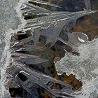 Eisfaszination am Bergbach. - La glace sur le ruisseau de montagne...