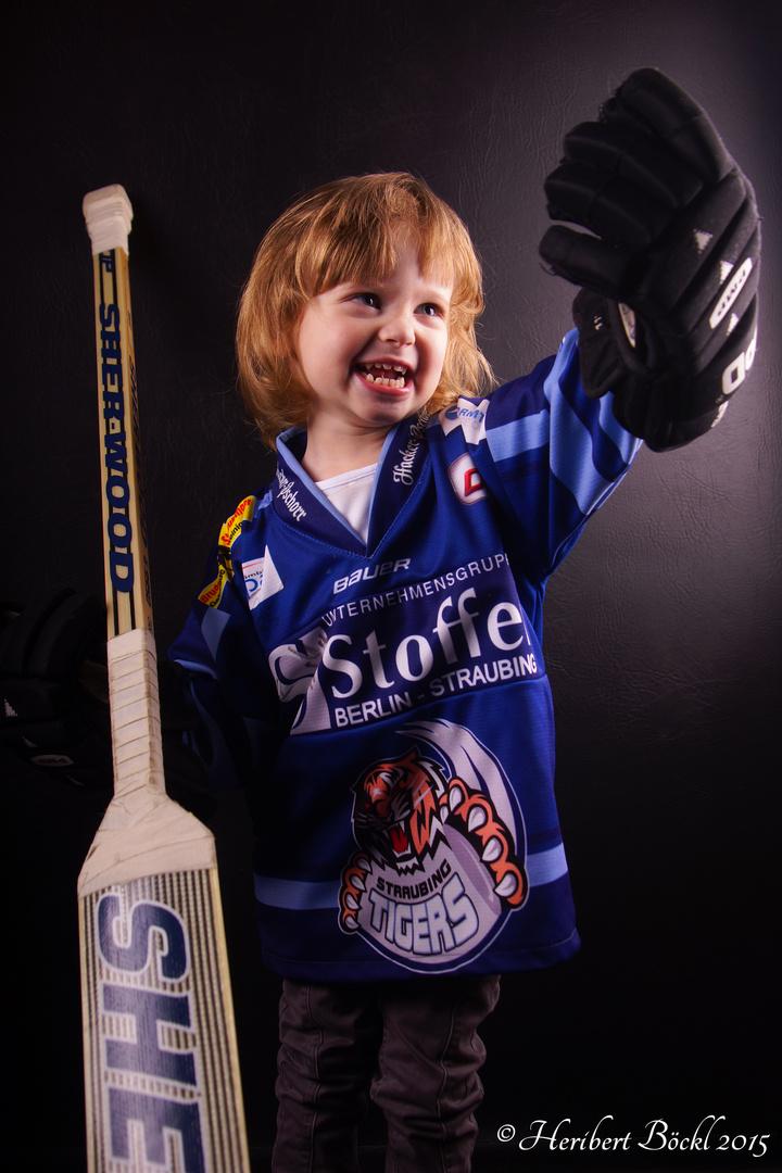 Eishockeyfan mit Leidenschaft