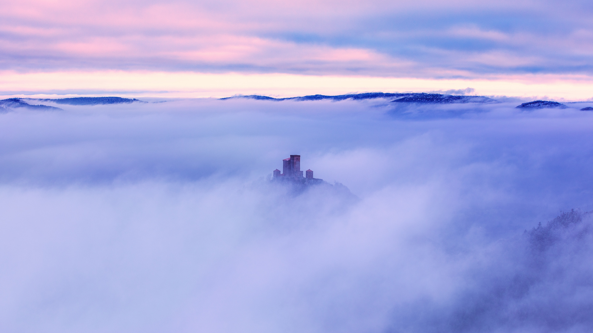 Eisig über den Wolken...