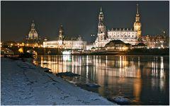 Eisige Nacht in Dresden