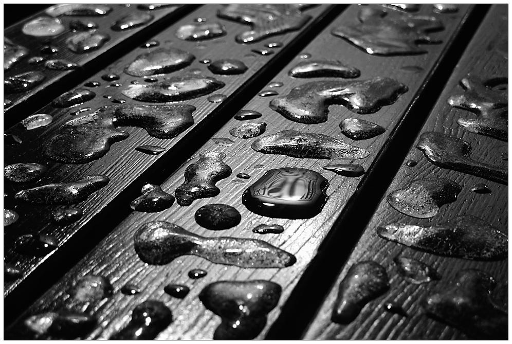 Eisige Regentropfen...