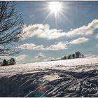 Eisige Wintersonne im Odenwald