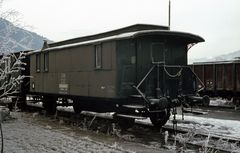 Eisiger Eisenbahnwaggon
