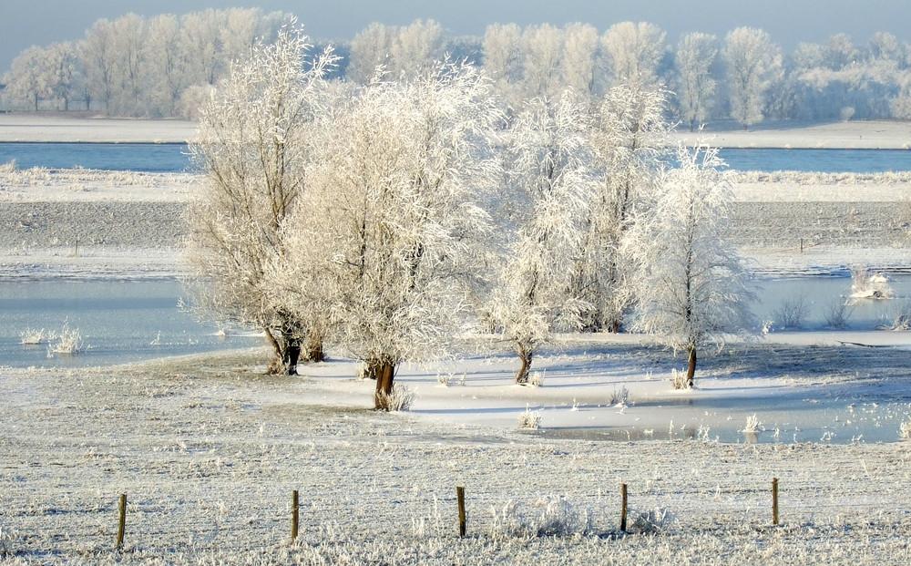 Eisiger Niederrhein