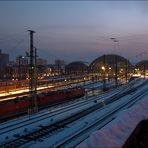 Eisiger Sonntag am Dresdener HBf