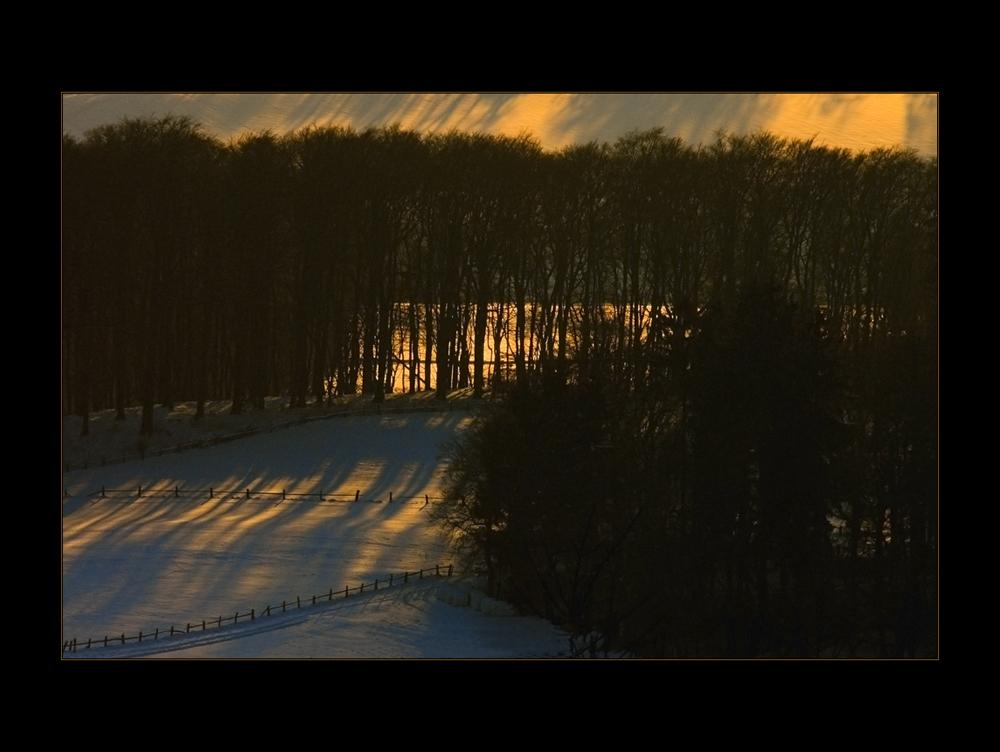 Eisiger Wind und Abendfeuer...