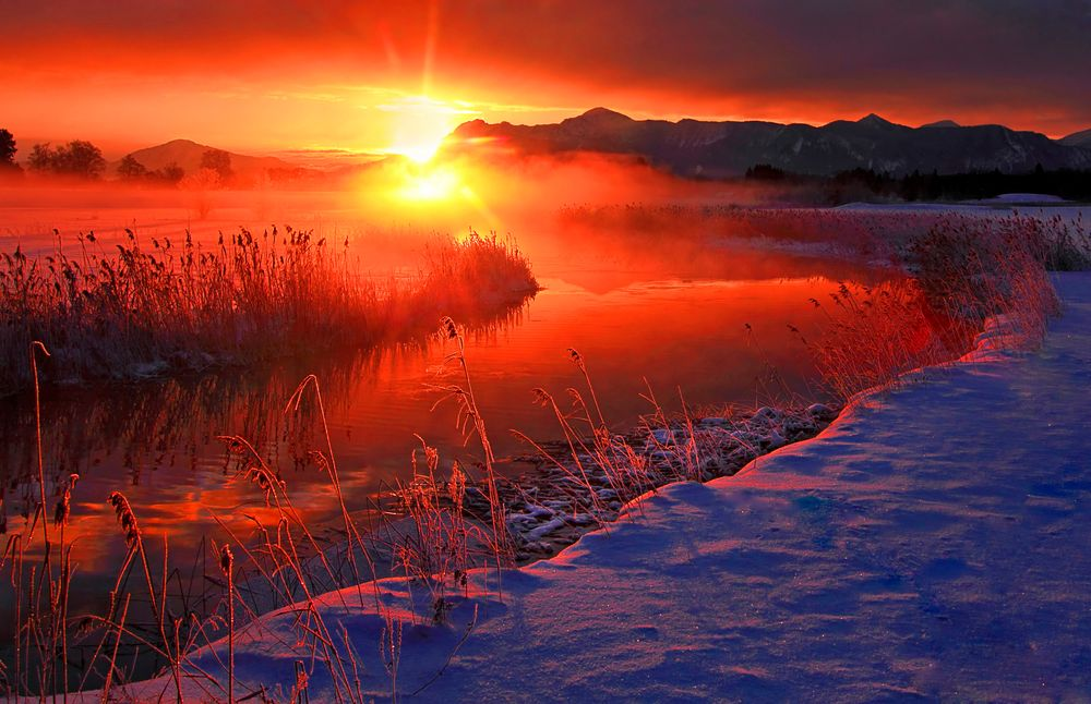 Eiskaltes Morgenglühen