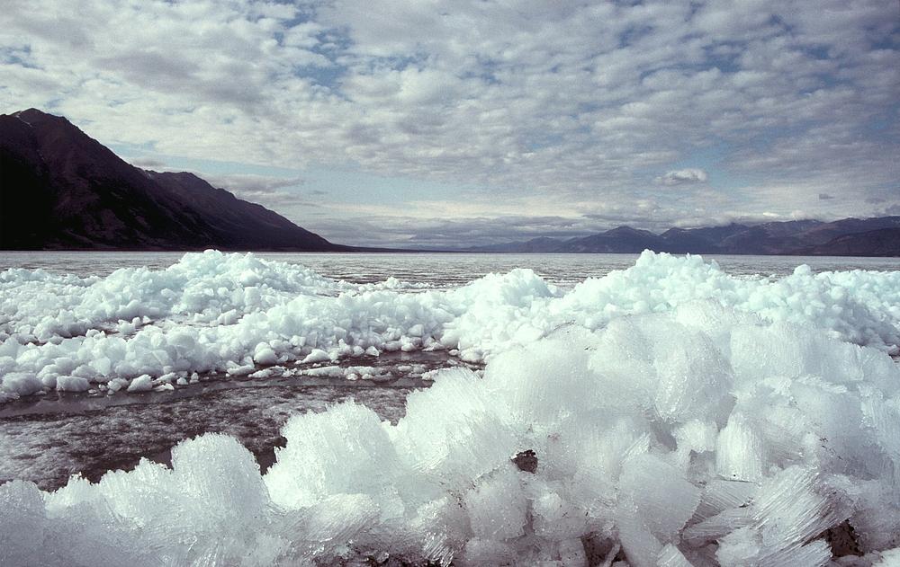 Eiskristalle am Kluane Lake