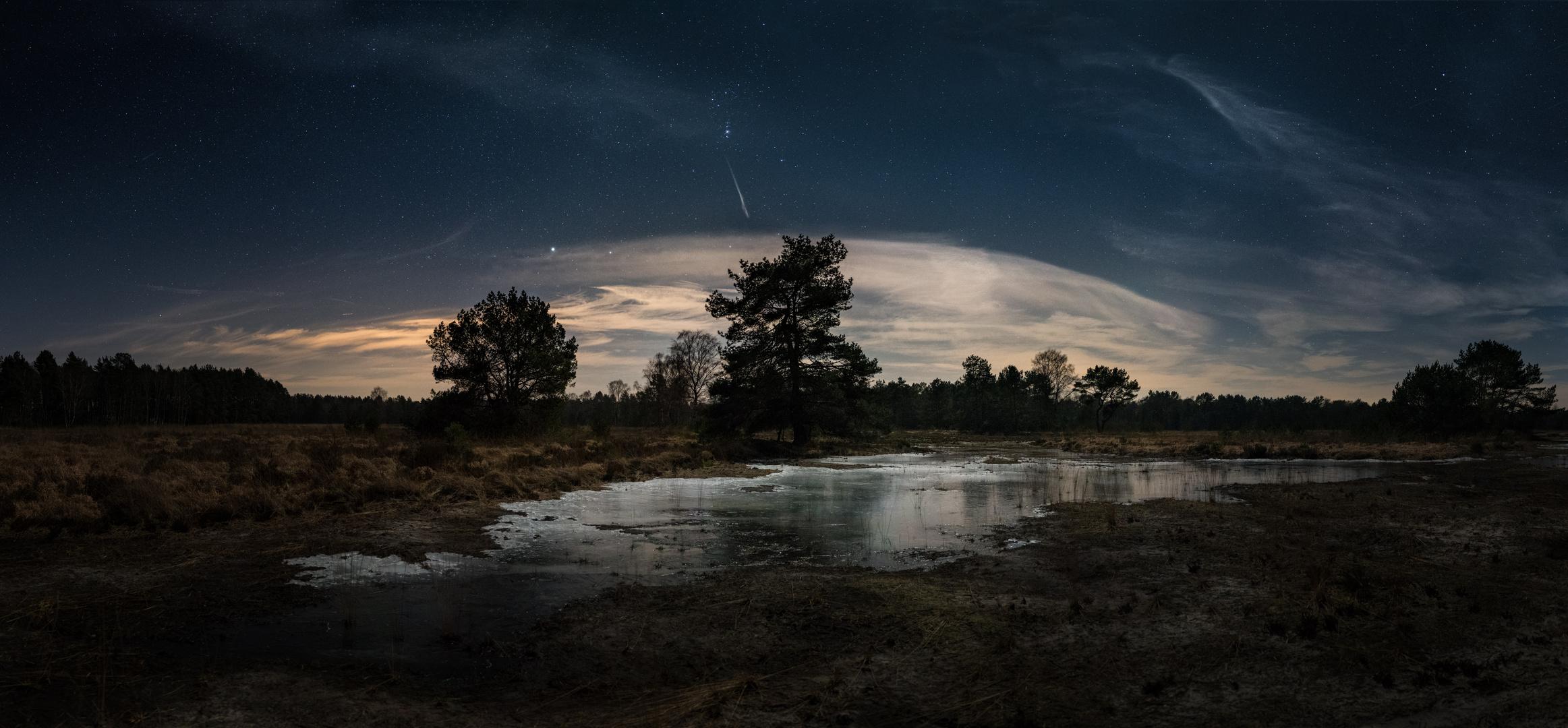 Eiskristalle im Mondlicht