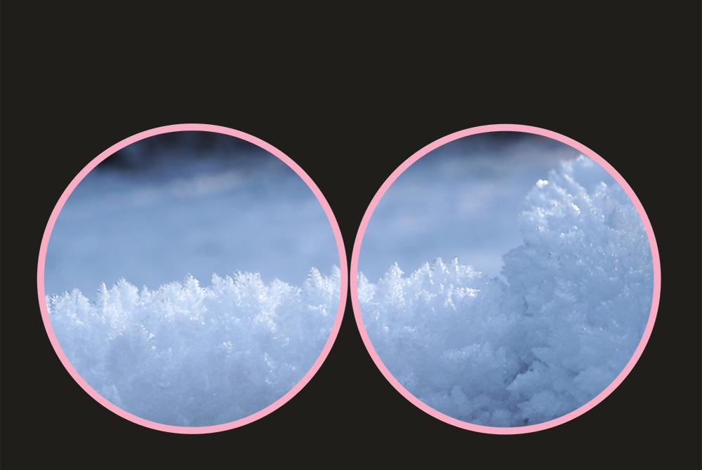 Eiskristalle in Sicht?