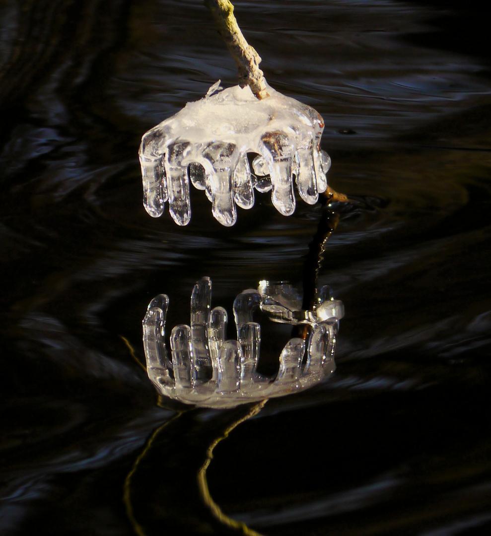 Eiskronenspiegelung