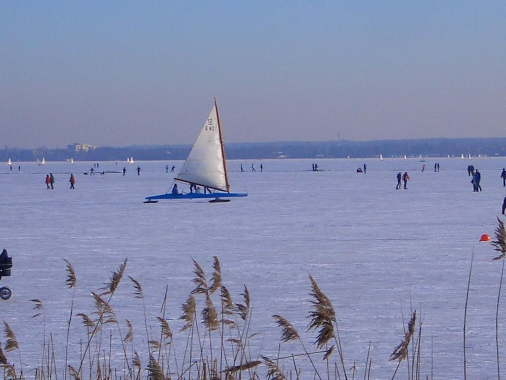 Eissegeln auf dem Steinhuder Meer 2009