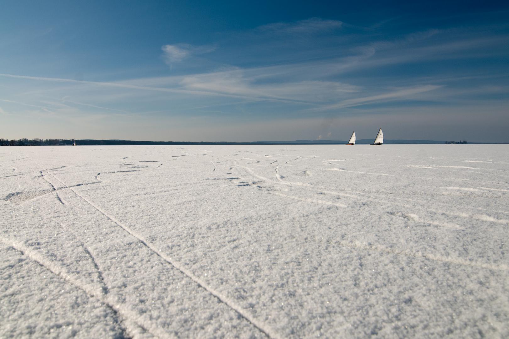 Eissegeln auf dem Steinhuder Meer