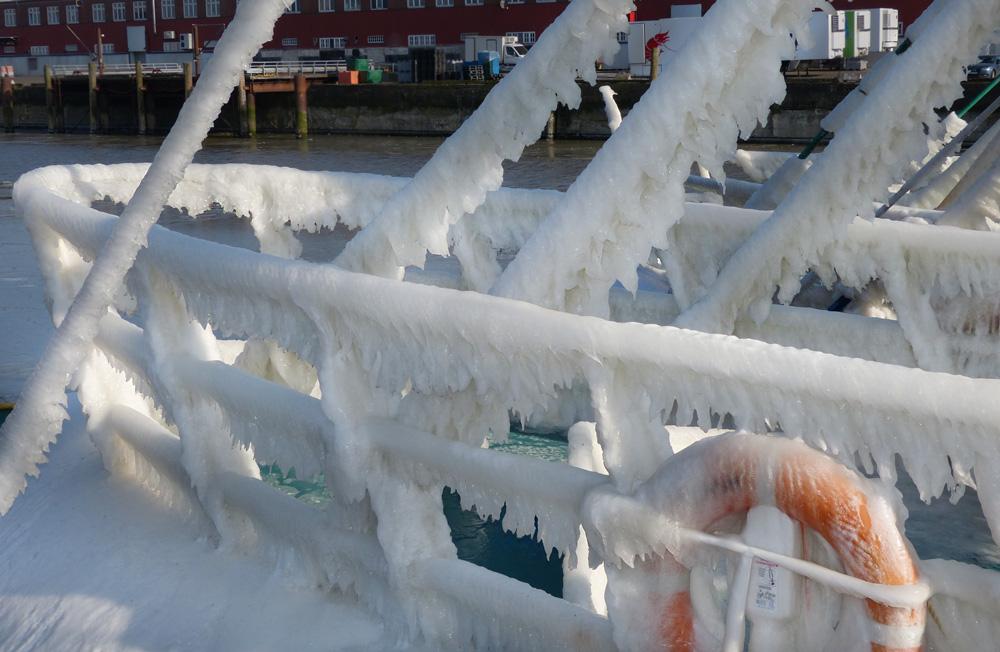Eiswinter in Cuxhaven