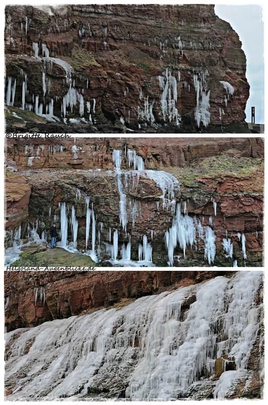 Eiszapfen und Eisfall