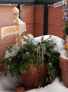 Eiszeit auf dem Balkon