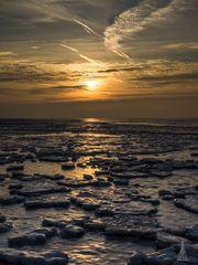 Eiszeit im Watt