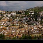 El Albaycín... desde La Alhambra