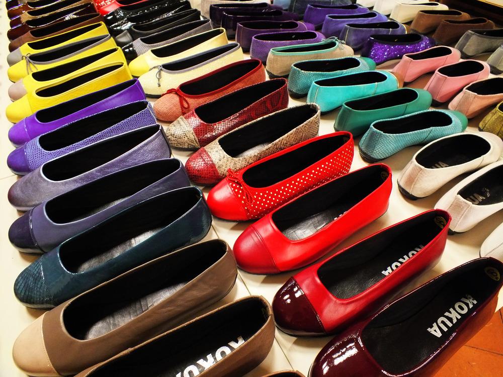 El arte de los zapatos de torero. los colores