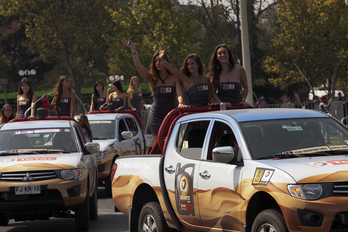 El Dakar llega a Santiago