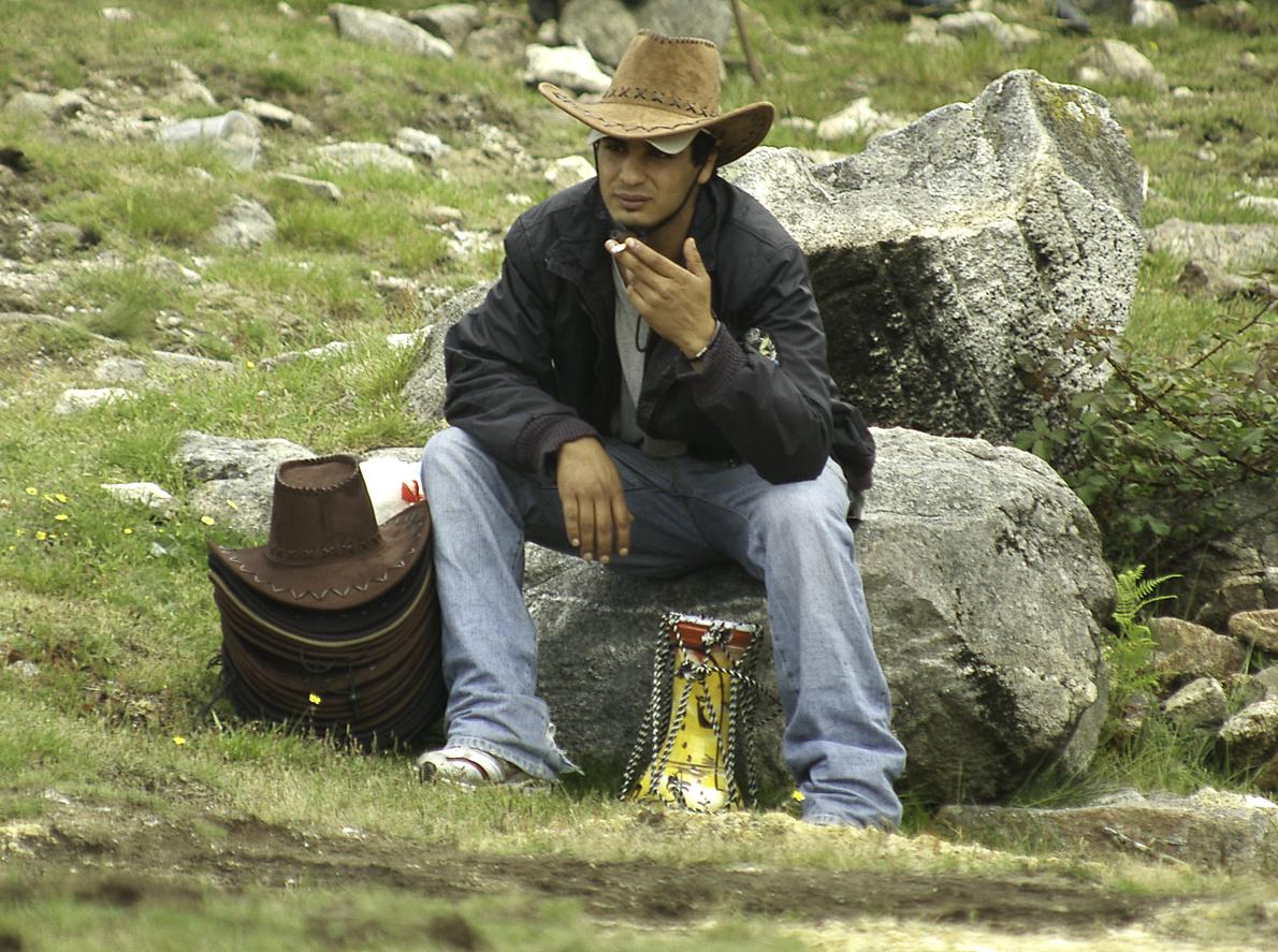 El descanso del vendedor de sombreros