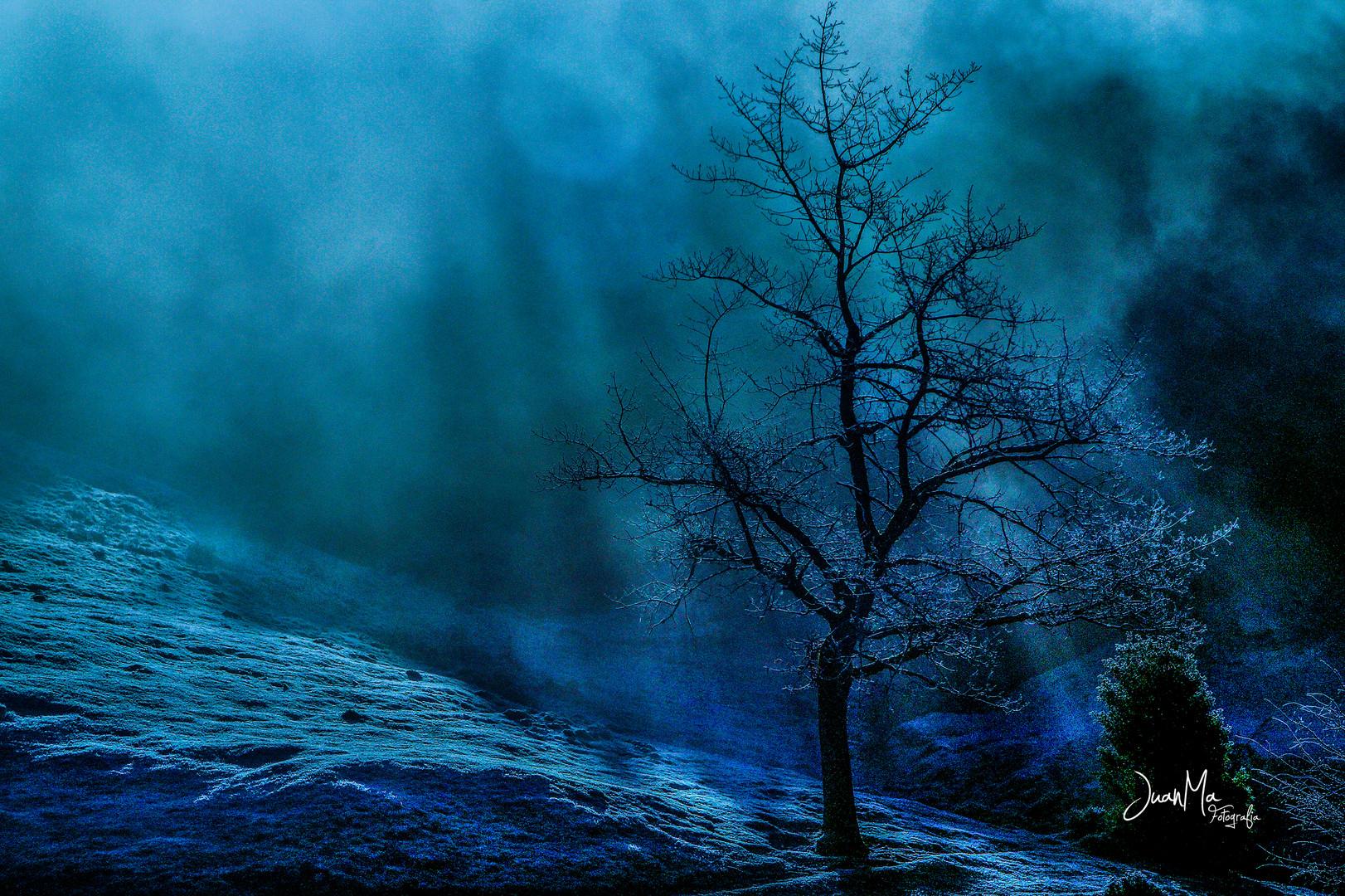El frío en Azul