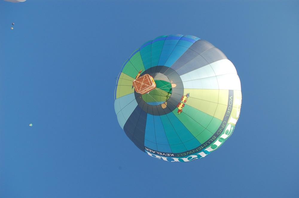 el globo en el cielo