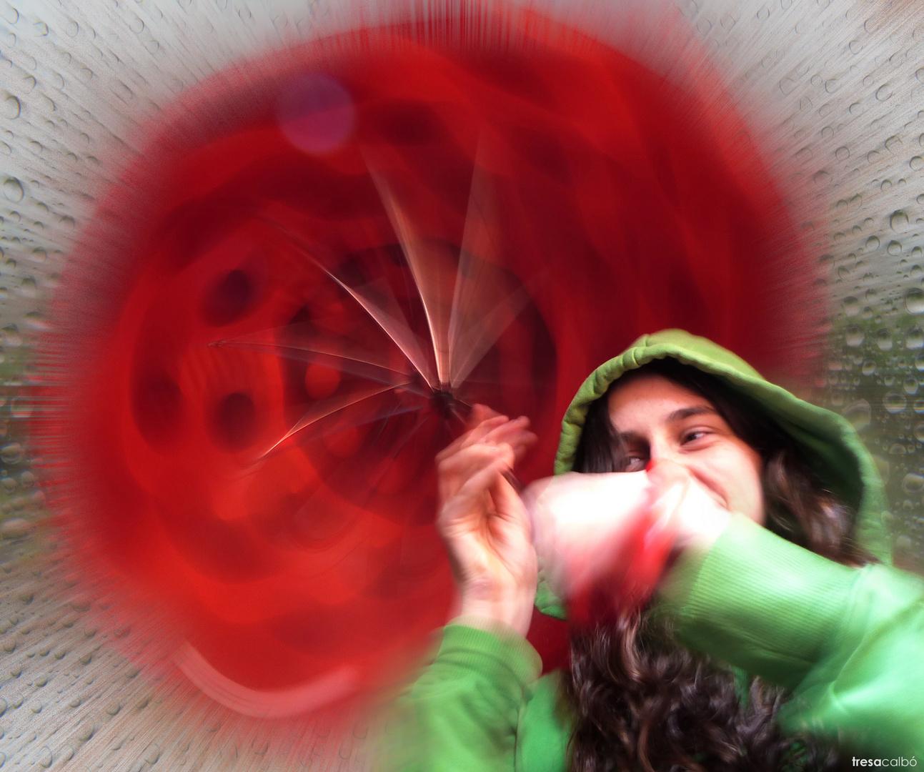 El paraguas rojo