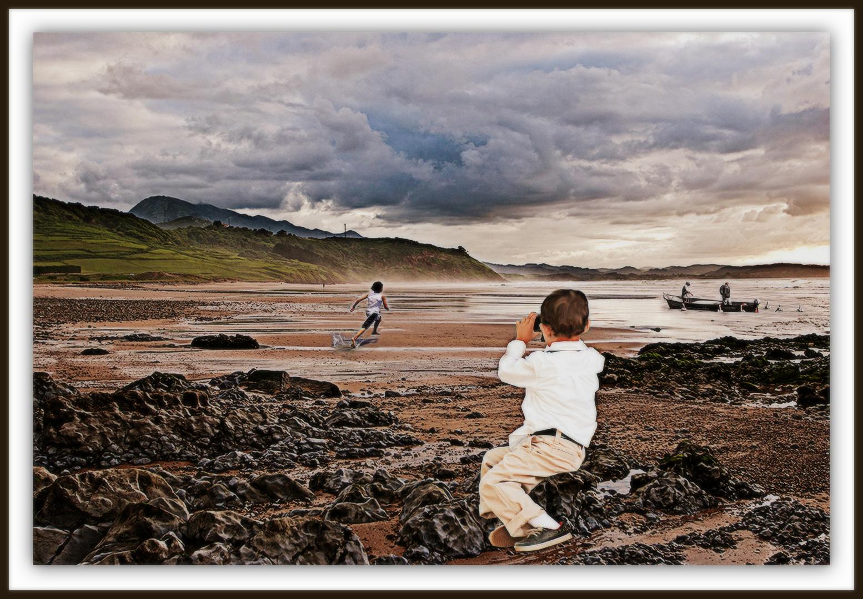 ''El pequeño fótógrafo del cantábrico''Taller de Fotomontaje de JValentina