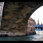 El Pilar desde El Puente de Piedra