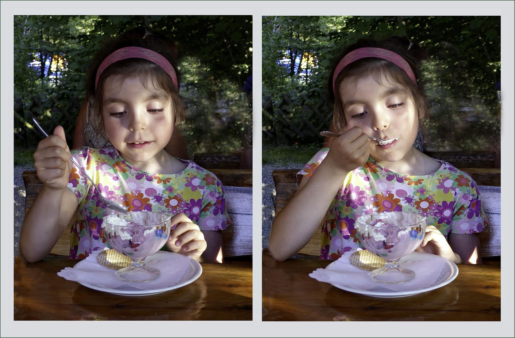 El placer de  tomar un helado