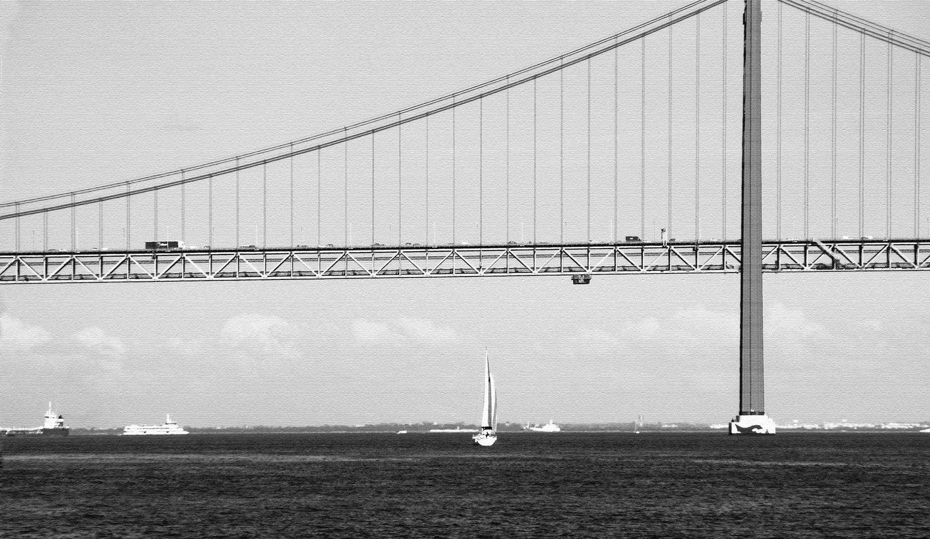 El puente y el Tejo.