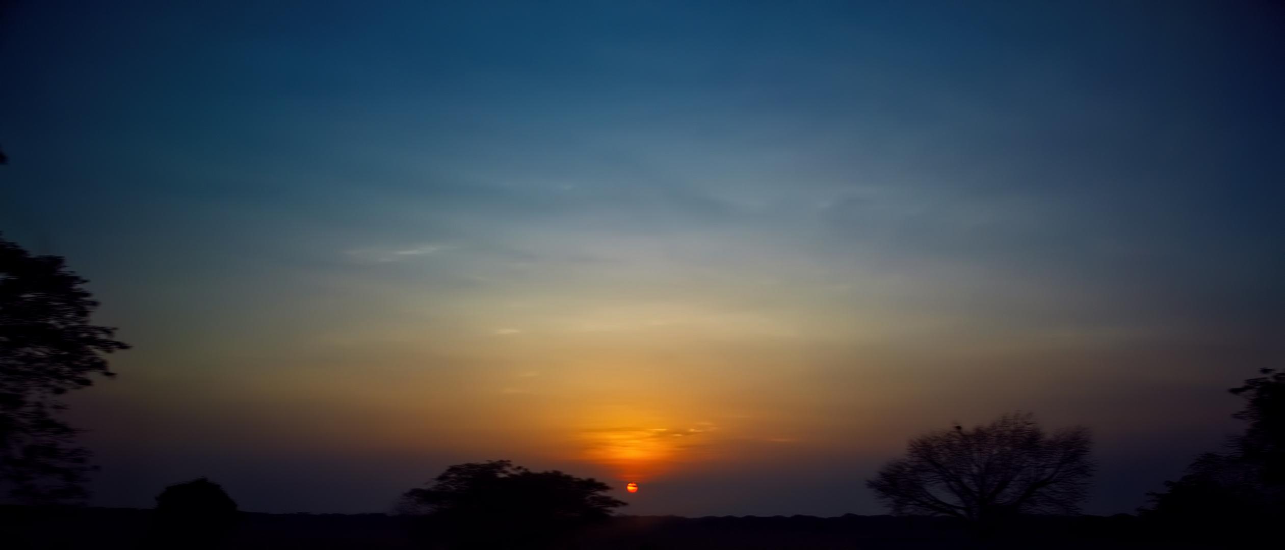 El Salvador. Sonnenuntergang