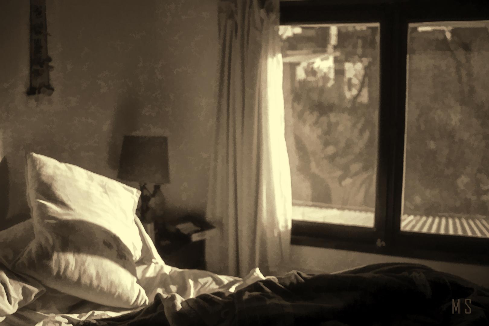 El sol entra por la ventana