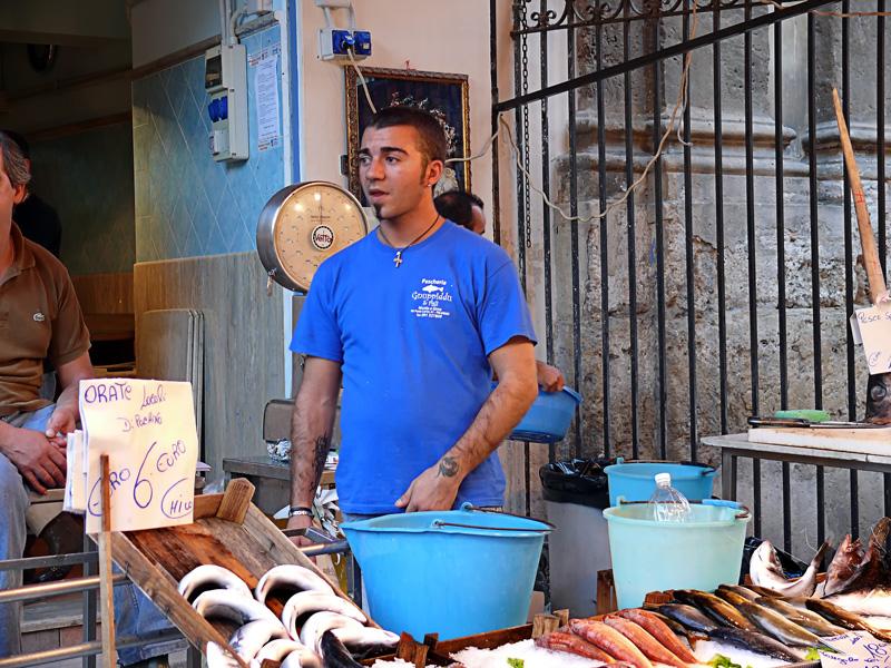El vendedor de pescado