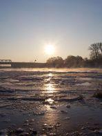Elbe am frühen Morgen