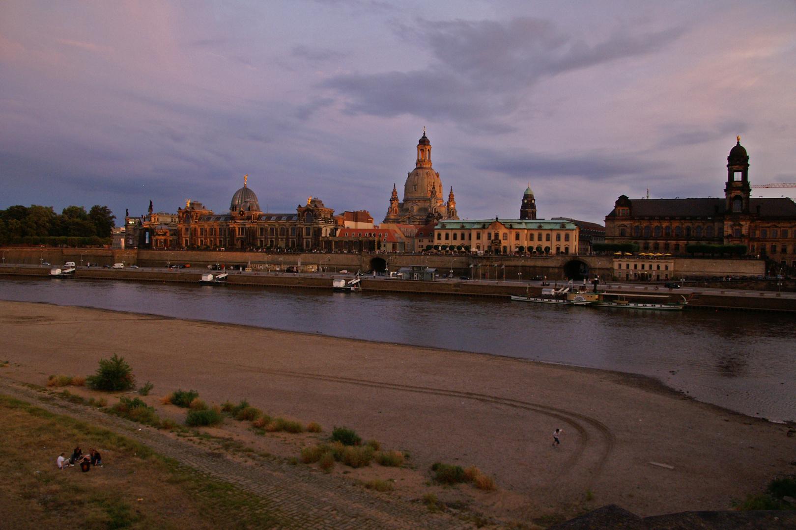 Elbe bei Niedrigwasser