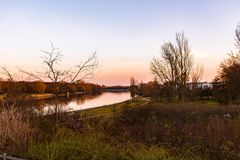 Elbe im Sonnenuntergang