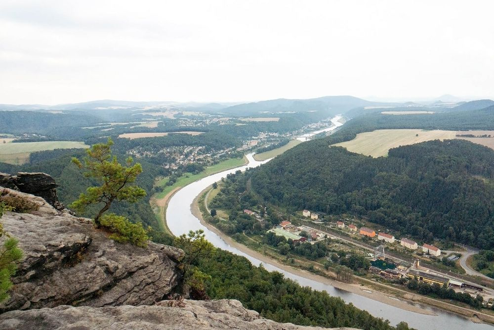 Elbe in Blickrichtung Bad Schandau